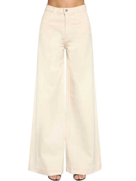 J BRAND Thelma High Rise Super Wide Leg Jeans in ivory