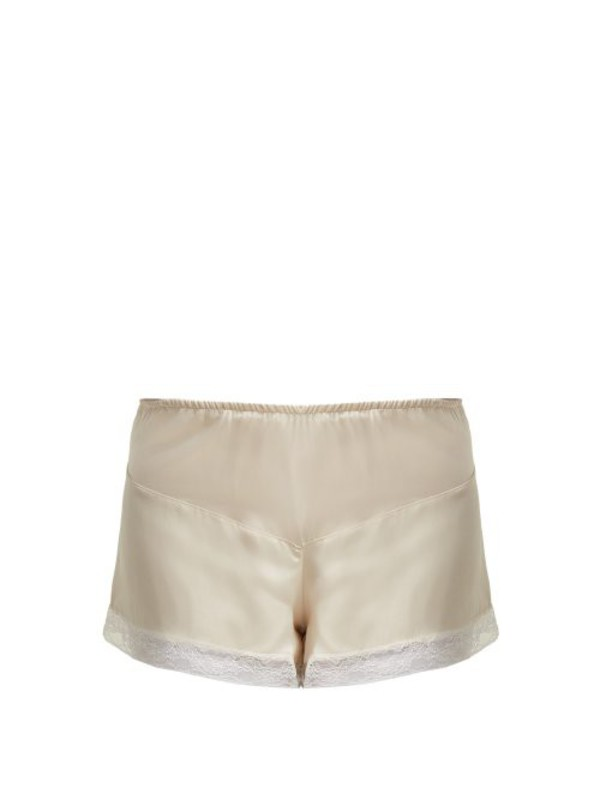 MORPHO + LUNA Morpho + Luna - Bina Silk Pyjama Shorts - Womens - Cream