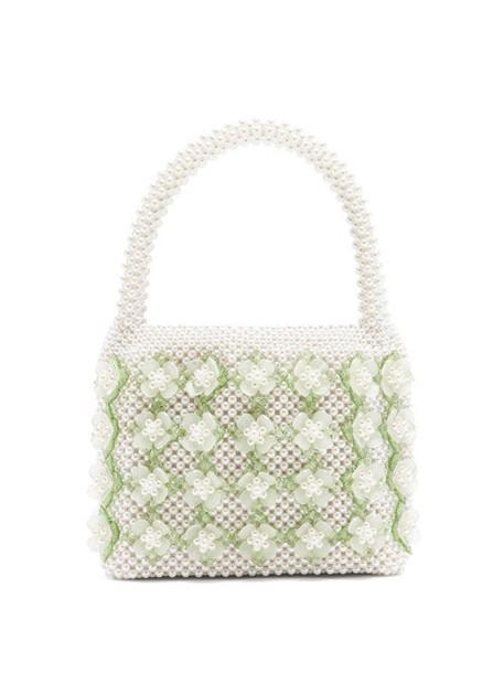 Shrimps - Thelma Faux-pearl Embellished Bag - Womens - Cream Multi