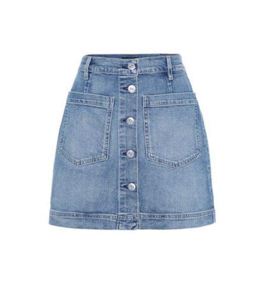3x1 Rose high-rise denim miniskirt in blue