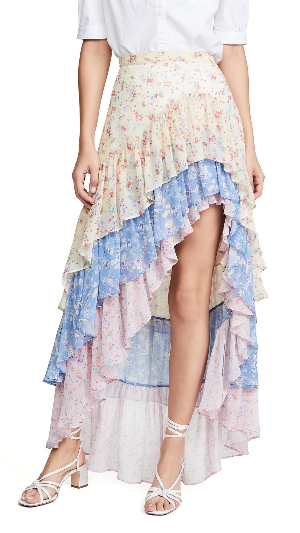 LOVESHACKFANCY Lisette Skirt in multi