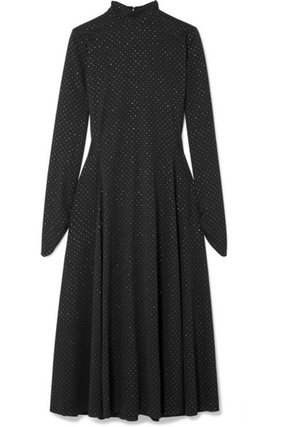 Marc Jacobs - Glittered Stretch-jersey Midi Dress - Black