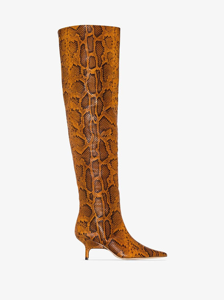 Rejina Pyo orange ashley 65 snake print leather boots