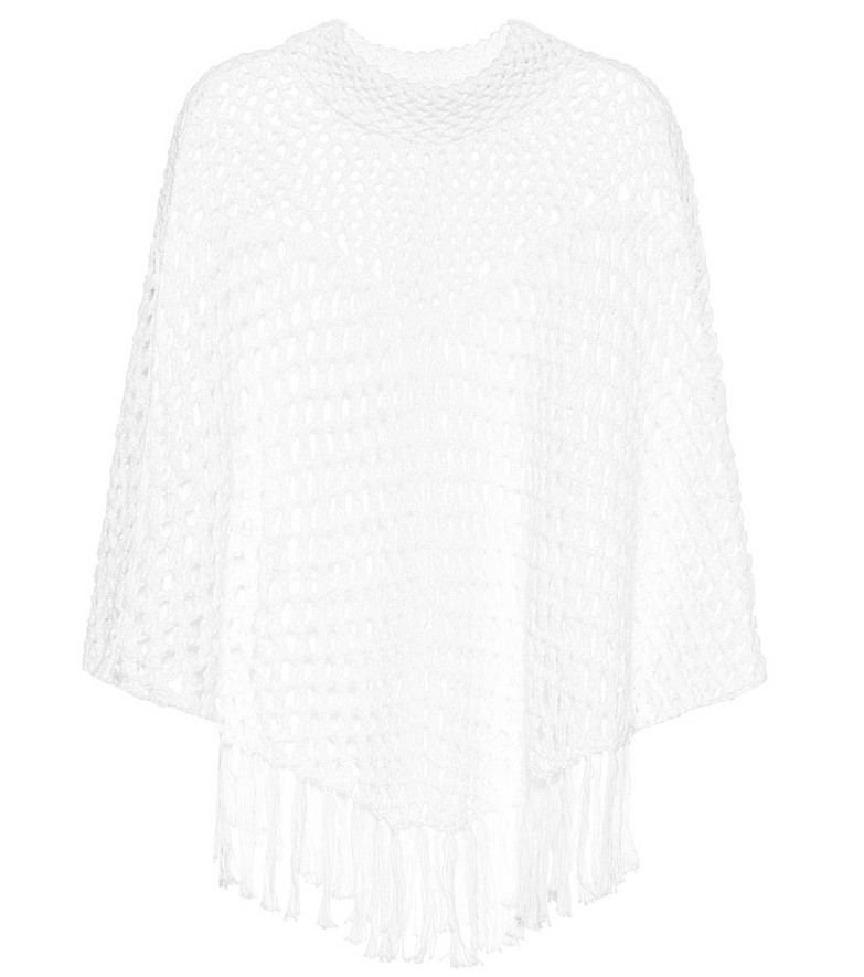 See By Chloé Cotton-blend crochet sweater in white