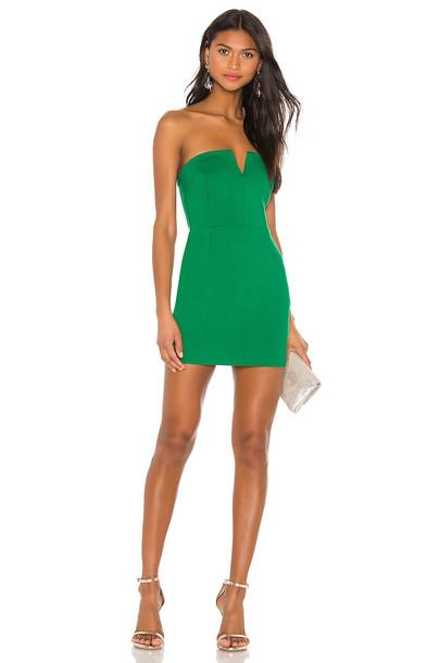 Susana Monaco V Plunge Dress in green