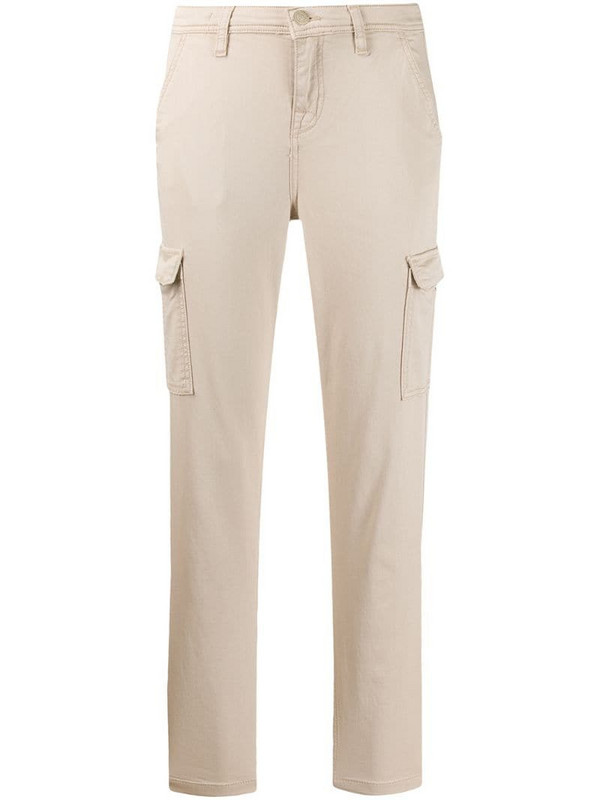 7 For All Mankind cropped slim-fit trousers in neutrals