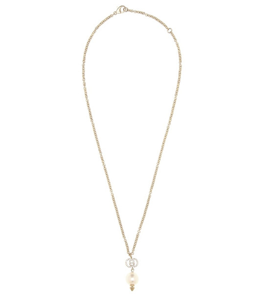 Gucci Crystal-embellished necklace in metallic