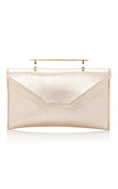 M2Malletier Annabelle Clutch with Chain Strap in gold