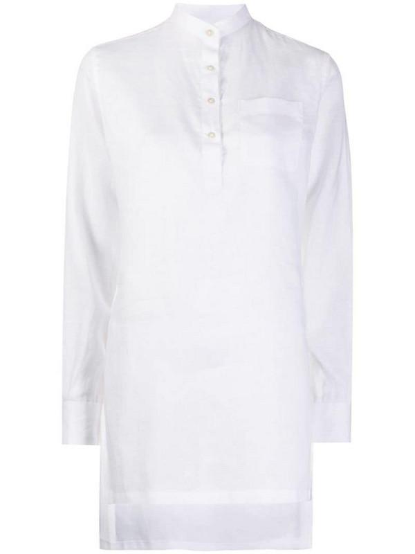 Eleventy chest-pocket blouse in white