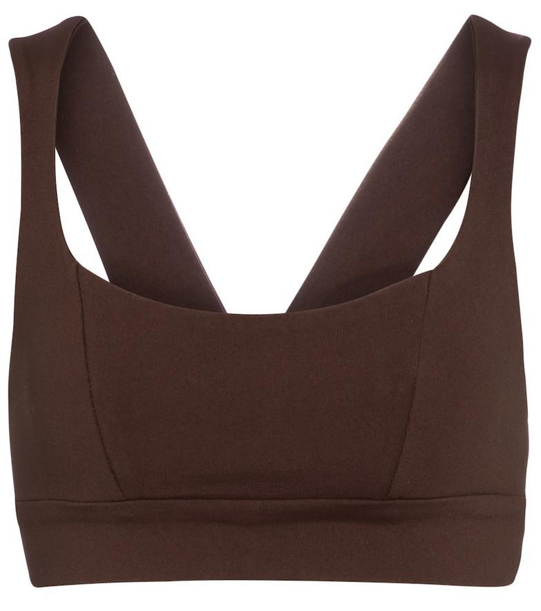 Live The Process Aura sports bra in brown