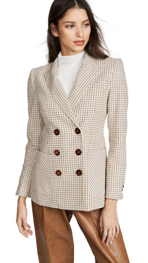 Veronica Beard Elison Dickey Jacket in white / multi