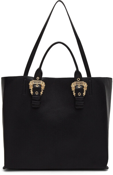 Versace Jeans Couture Black Buckle Tote Bag
