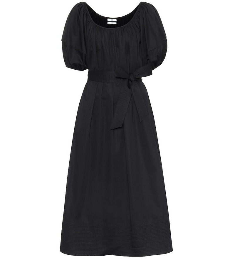 Co Cotton sateen maxi dress in black