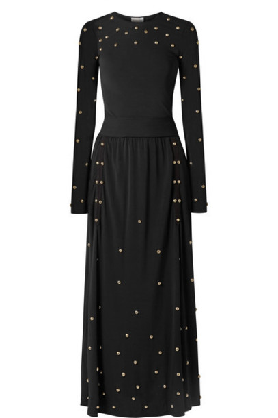 By Malene Birger - Embellished Jersey Maxi Dress - Black