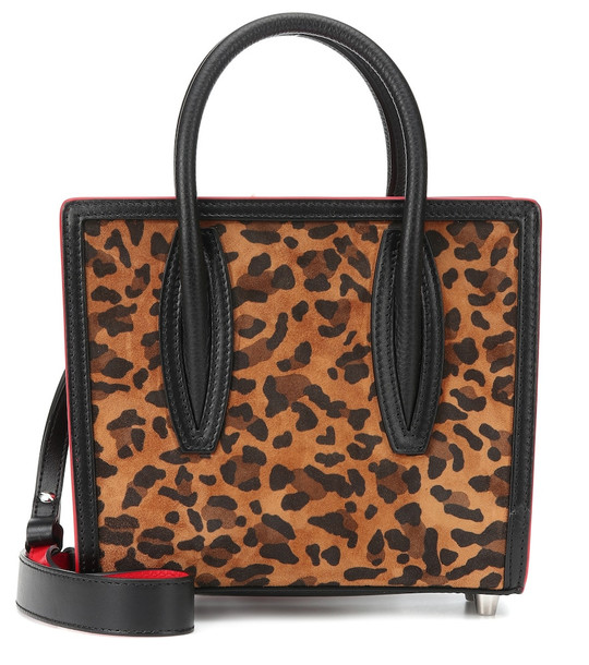 Christian Louboutin Paloma S Mini suede tote in brown