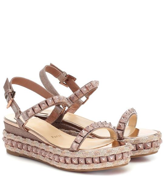 Christian Louboutin Pira Ryad 60 sandals in metallic