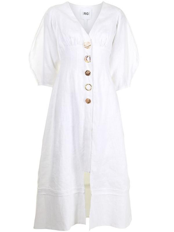 Rachel Gilbert Capri button-up dress in white