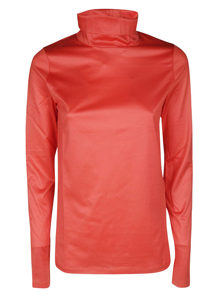 Tela Turtleneck Top in red
