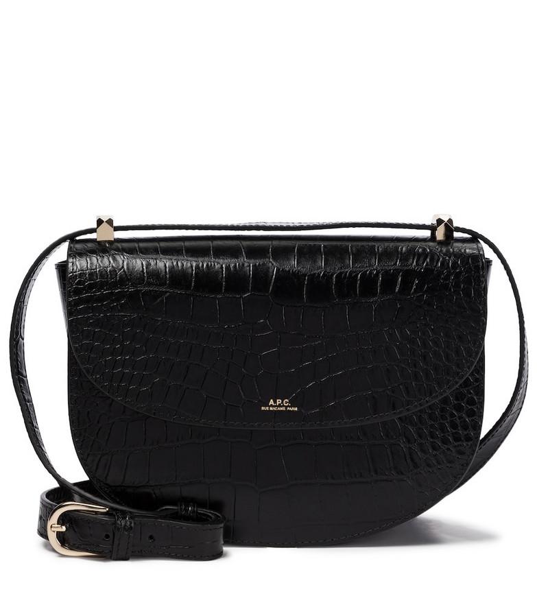 A.P.C. Genève leather shoulder bag in black