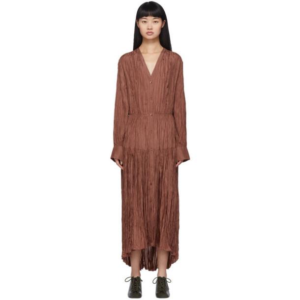Joseph Brown Silk Habotai Falco Dress
