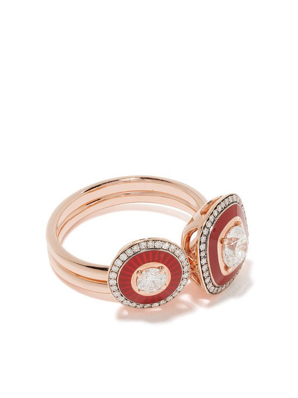 Selim Mouzannar 18kt rose gold diamond ring set
