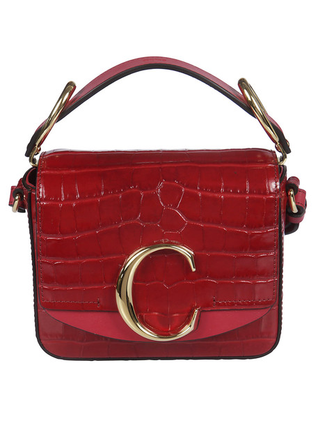 Chloé Chloé Logo Shoulder Bag in red