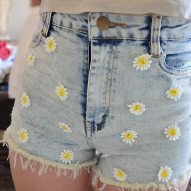 shorts daisy shorts