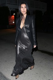shoes,see through,pvc pumps,kourtney kardashian,kardashians,plunge dress,sexy dress,maxi dress,black dress