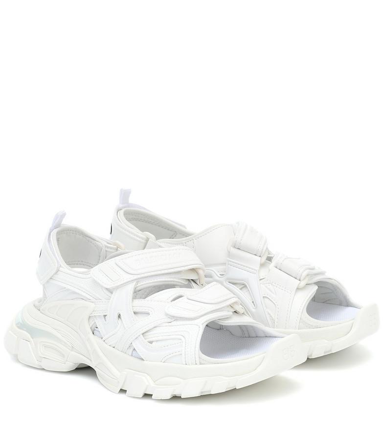 Balenciaga Track sandals in white