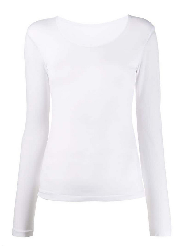 Yohji Yamamoto Pre-Owned 1990s stretch long-sleeved top in white