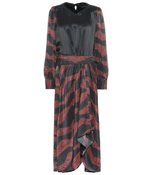 Isabel Marant Romina printed silk-blend midi dress in black