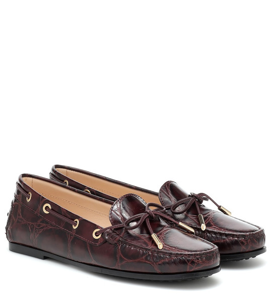 Tod's City Gommino leather loafers in purple