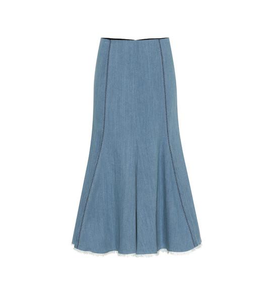 Gabriela Hearst Amy denim midi skirt in blue