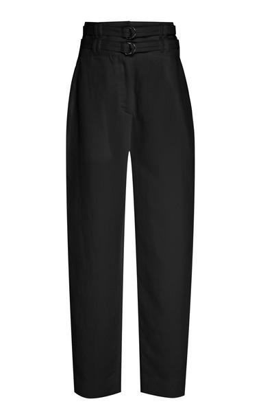 Proenza Schouler Belted Wool Pants Size: 2 in black