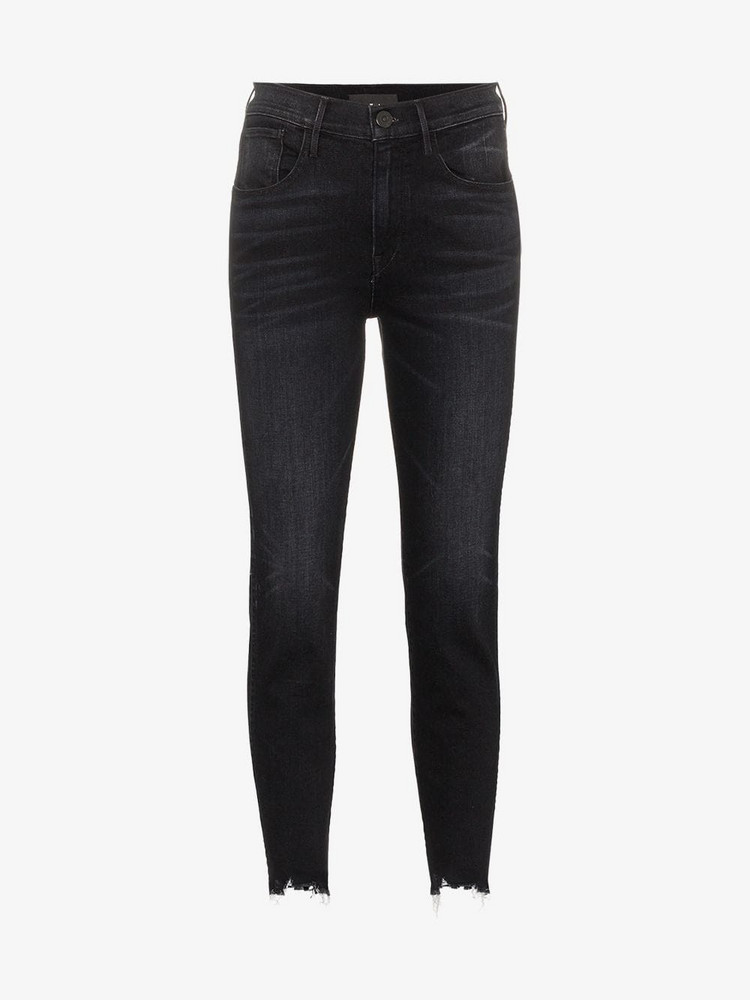 3x1 straight authentic cropped jeans in black