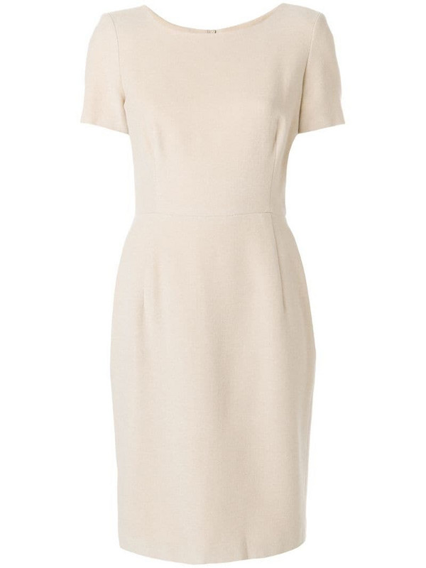 Jil Sander Pre-Owned shortsleeved midi dress in neutrals