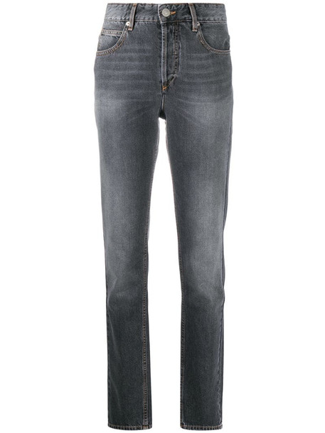 Isabel Marant Étoile high-waisted straight leg jeans in grey