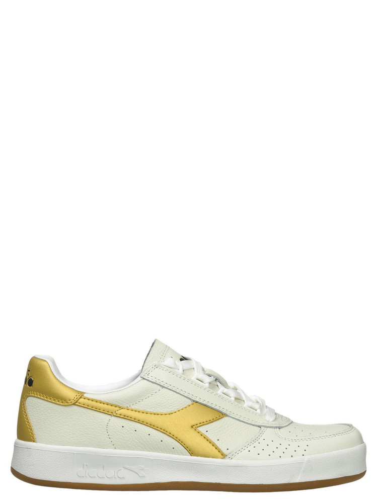 Diadora white and gold glitter gym shoes 8