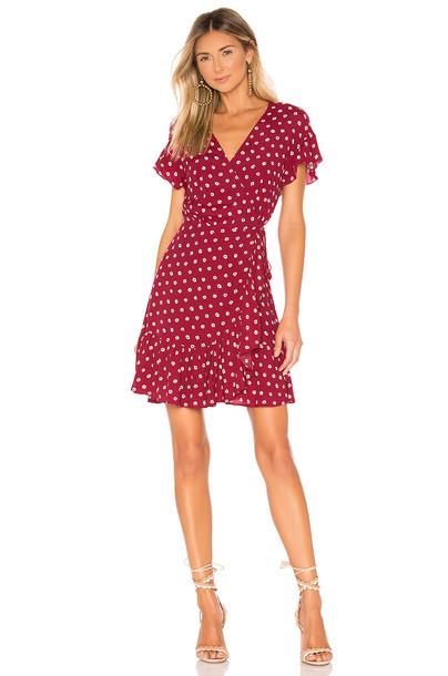 Rails Koreen Wrap Dress in red