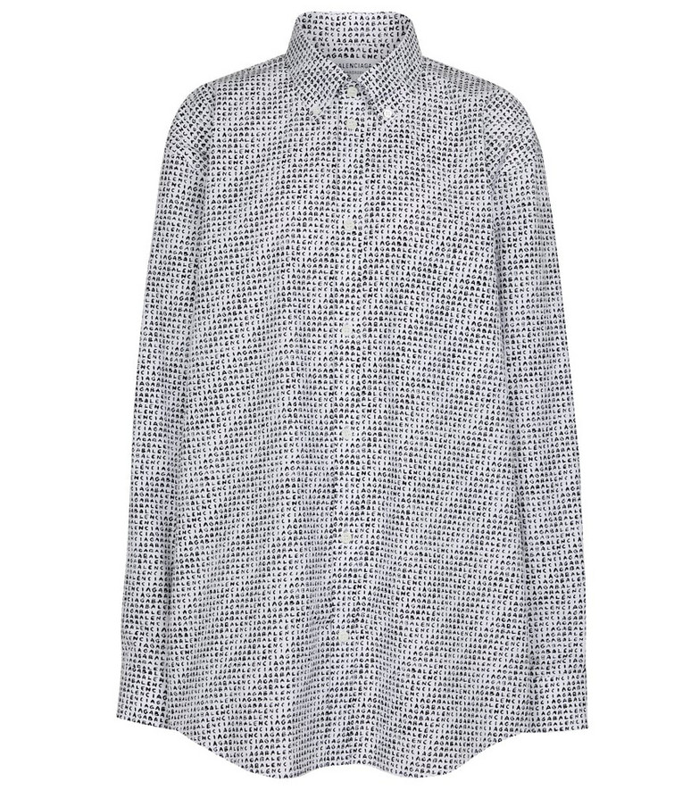 Balenciaga Archive Letters printed cotton shirt in grey