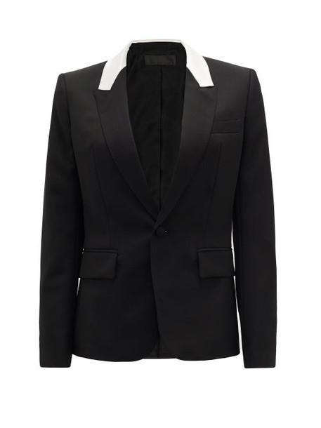 Haider Ackermann - Contrast-panel Single-breasted Wool Jacket - Womens - Black White