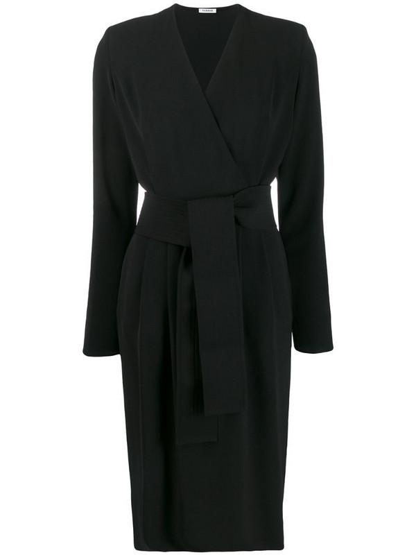 P.A.R.O.S.H. tie waist dress in black