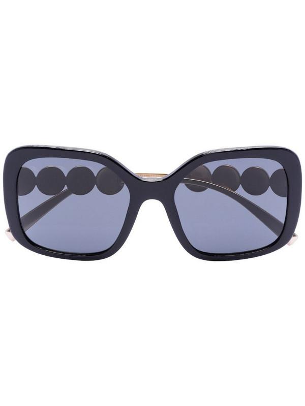 Versace Eyewear Black square oversized sunglasses