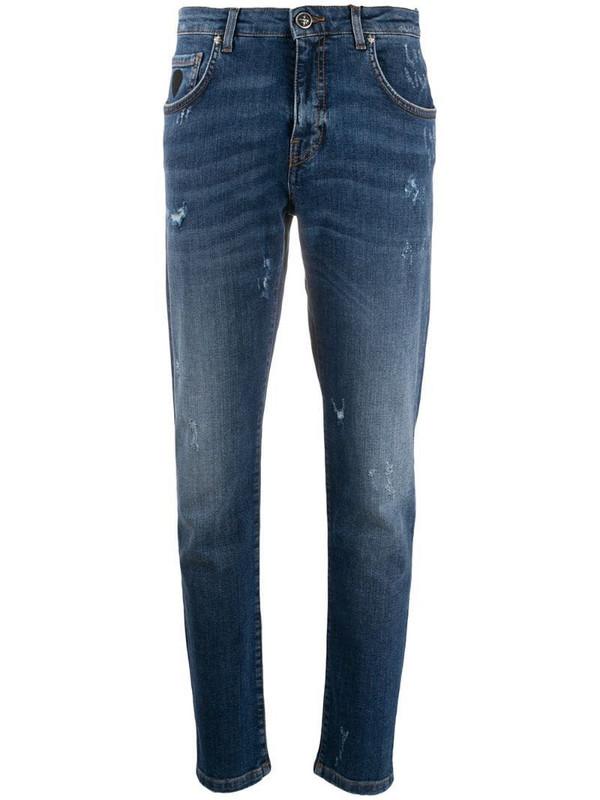 John Richmond straight-leg jeans in blue