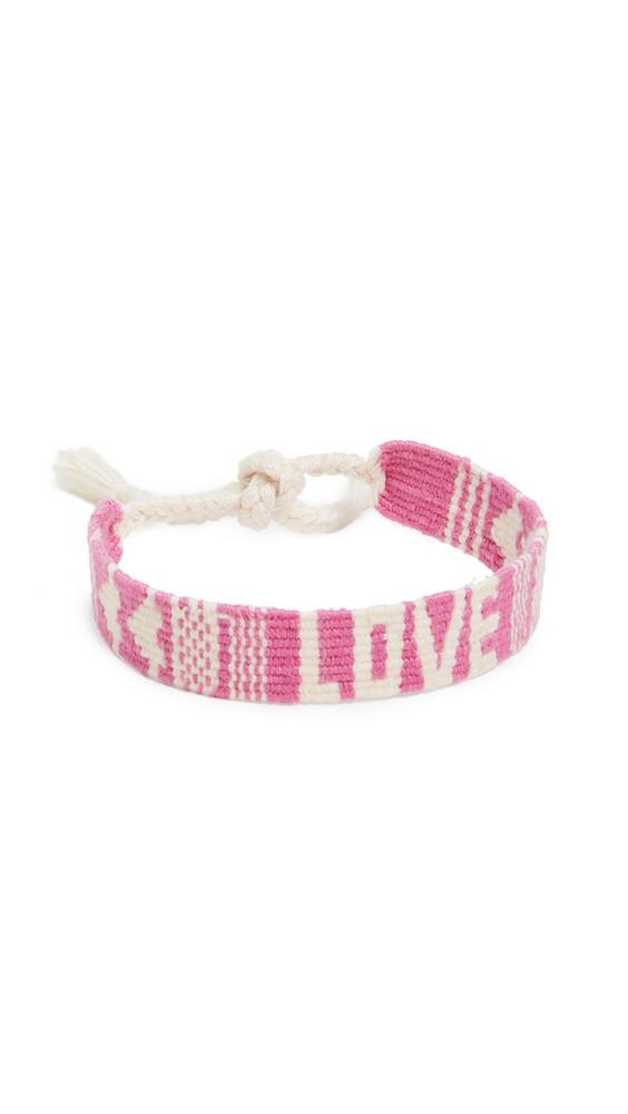 Maison Irem Love Bracelet in pink