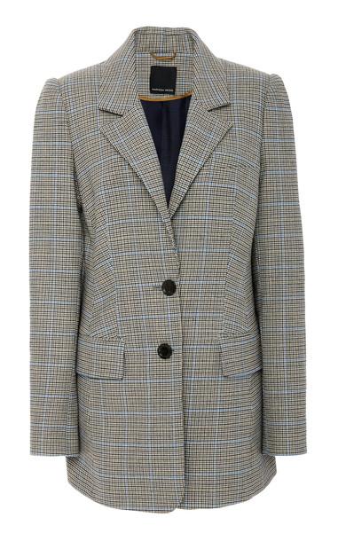 Marissa Webb Olson Mini Houndstooth Wool-Blend Blazer Size: XS