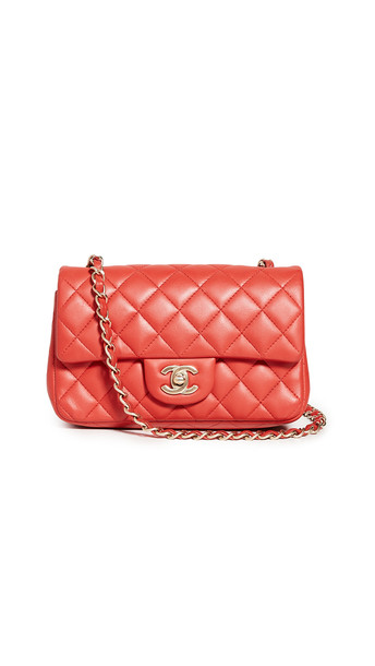 What Goes Around Comes Around Chanel Half Flap Small Shoulder Bag in red
