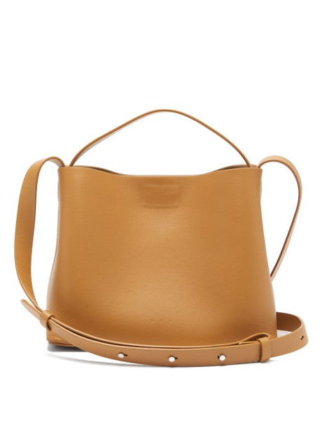 Aesther Ekme - Mini Leather Cross-body Bag - Womens - Brown