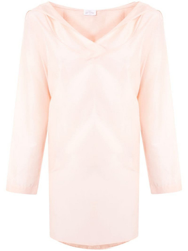 Pour Les Femmes hooded tunic dress in pink