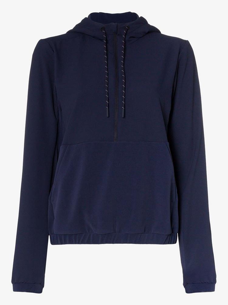 LNDR Commuter zip front hoodie in blue